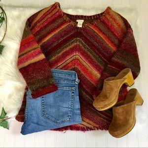Sundance Boho Striped Knit Sweater Size Small